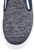 Sneakers slip-on in tela - Blu scuro mélange -  | H&M IT 3